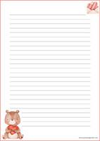 Nalle - kirjepaperit (A4, 10s) #1