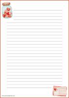 Sydänpurkki -kirjepaperit (A4, 10s) #1