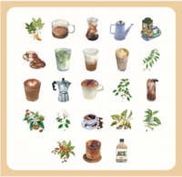 Sticker box - Coffee (45 stickers)