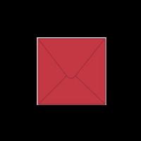 Solid color square envelope 14.4x14.4cm - dark red
