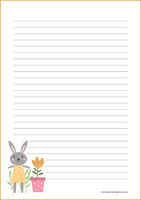 Bunny - writing papers (A4, 10s) #4