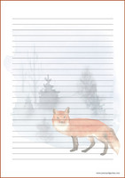 Fox - writing papers (A5, 10s) #7