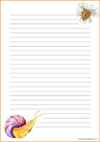 Snail and cone - writing papers (A4, 10s) #1