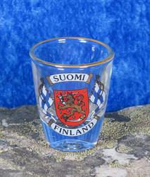 Snapsilasi  Suomi-Finland liput vaakunalla, aitokulta