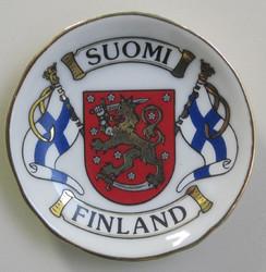 Magneetti Suomi-Finland, liput vaakunalla 5cm lautasen mallinen