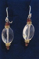 Korvakorut vuorikide viistehiottu, almandiini-granaatti zirkonikoriste