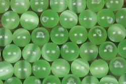 Kissansilmä kuitulasihelmi vaaleanvihreä 6mm