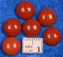 Kapussi punainen jaspis 10mm pyöreä cabochon