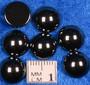 Kapussi hematiitti tummanharmaa kiiltävä 10mm pyöreä cabochon