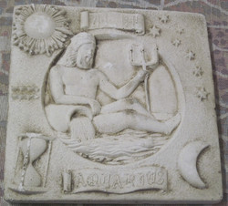 Taulu VESIMIES AQUARIUS horoskooppitaulu 20x20cm
