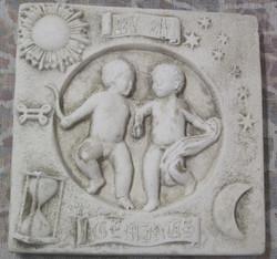 Taulu  KAKSOSET  GEMINI  horoskooppitaulu 20x20cm