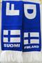 Kaulaliina Suomi-Finland sinivalkoinen n 160cm neulehuivi