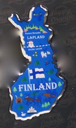 Magneetti: Suomen kartta, metallia