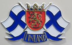 Magneetti: Suomen liput, Vaakunaleijona, kumimagneetti