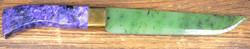 Kivipuukko 26cm tsharoiittikahva, nefriittiterä
