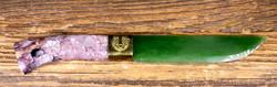 Kivipuukko 19cm,  tsharoiittikahva nefriittiterä