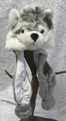 Hattu husky koira talvivihattu koko S-M,  lyhyet 25cm tassut