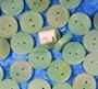 Nappi Aventuriini 15mm vihreä kivinappi