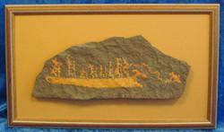 Taulu kalliomaalauksen jäljennös KALASTUSUmbajoki Kanozerojärvi Venäjä