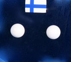 Nappikorvakorut akaatti valkoinen 6mm