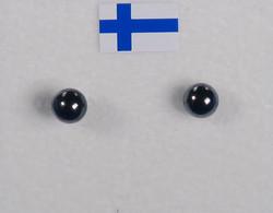 Nappikorvakorut hematiitti 4mm