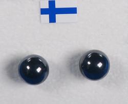 Nappikorvakorut hematiitti 8mm