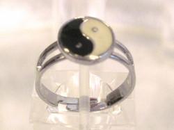 Sormus yin yang 17mm säädettävä