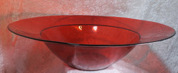 Suihkulähdemalja 49cm punainen iso lasimalja