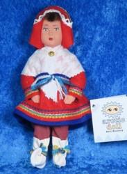 Nukke Lapinnukke 18cm tyttö lapinpuvussa