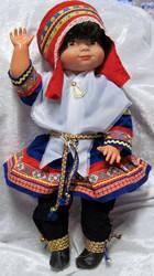 Nukke Lapinnukke 45 cm tyttö lapinpuvussa