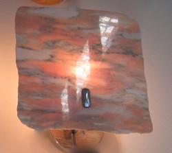 Kivilamppu: Marmoria, oranssi 25x25cm Seinävalaisin