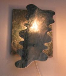 Kivilamppu kromimarmori, vihreä seinävalaisin