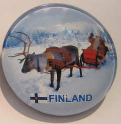 Magneetti: poro ja joulupukki, 35mm pyöreä