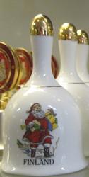 Kilikello joulupukki, kullattua posliinia, 10cm