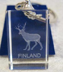 Avaimenperä poro Finland, kristallilasia