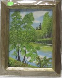 Taulu k: kuva on tehty pienillä kivillä.