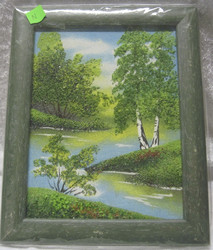 Taulu n: kuva on tehty pienillä kivillä.