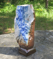 Maljakko Vuori, takaseinä L, korkeus 23cm keramiikkaa sininen