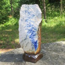Maljakko Vuori, takaseinä L, korkeus 43cm keramiikkaa sininen, suurin
