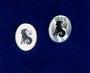 Nappikorvakorut KAURIS, CAPRICORN, 925-hopea ja simpukka