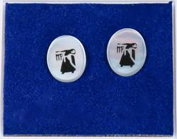 Nappikorvakorut: NEITSYT, VIRGO, simpukka ja 925-hopea