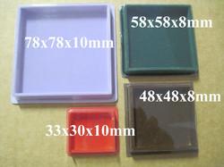 Rasia: 48x48x8mm, eri värejä, kirkas kansi