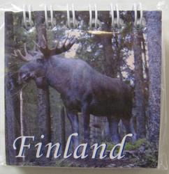 Magneetti: Hirvi/ Finland, muistilehtiö n.6x6cm