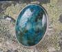 Sormus krysokolla ovaali 20x30mmkivi,  säädettävä  20mm, 925-hopea