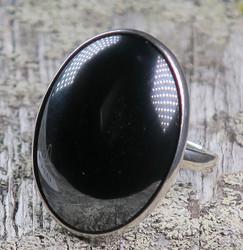 Hopeasormus hematiitti 22,3mm, ovaali kivi 21x29mm nro3B