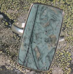 Hopeasormus tinguaiitti 22,7,mm kulmikas iso kivi 16x30mm, harvinainen