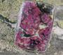 Hopeasormus eudialiitti 24mm, kulmikas kivi 24x33mm nro1