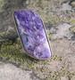 Hopeasormus tsharoiitti 17,5mm säädettävä, kivi 15x30mm nro21