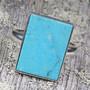 Hopeasormus aito turkoosi 19,7mm kumikas kivi 13x18mm nro14