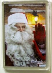 Magneetti: joulupukki vilkuttaa 68x98mm, pleksi